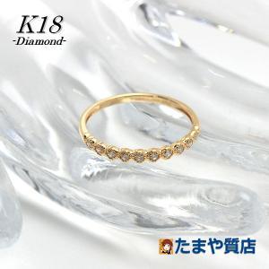 K18 ダイヤモンドリング 8号 0.10ct 18金 ゴールド 指輪 13945|tamaya78