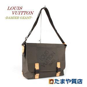 LOUIS VUITTON ルイヴィトン ダミエジェアン ルー テール ショルダーバッグ M93077 フランス製 キャンバス カーキ フラップ 15319|tamaya78