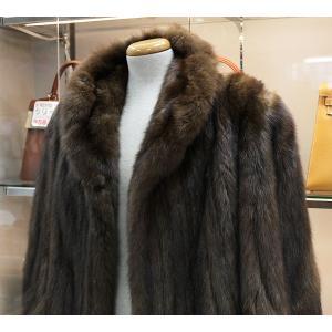 値下げ SOJUZPUSHNINA SOBOL ロシアンセーブル 毛皮 ロングコート 茶色 74803 |tamaya78