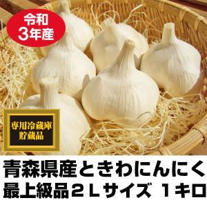 にんにく 青森県産 ときわ産 最上級品 2Lサイズ 1kg 9-12玉前後 令和元年産 新物|tamenobu-store