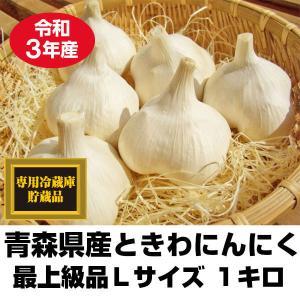 にんにく 青森県産 ときわ産 最上級品 Lサイズ 1kg 14-17玉前後 令和元年産 新物|tamenobu-store