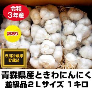 にんにく 青森県産 ときわ産 並級品 2Lサイズ 1kg 9-12玉前後 令和元年産 新物|tamenobu-store