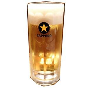 サッポロ 黒ラベル ビールジョッキ 中ジョッキ 400ml 単品|tamurashop