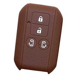 IKTスズキ/マツダ車用 スマートキー用シリコンカバー 4ボタン ブラウン/新型スペーシア/新型スペーシアカスタム/フレアワゴン/フレアワゴ|tamurashop