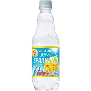 炭酸水サントリー 天然水 スパークリングレモン 500ml×24本|tamurashop