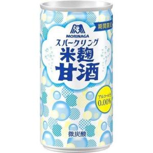 森永 スパークリング 米麹甘酒 190ml×30本入|tamurashop