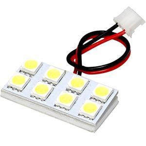 12V車用 SMD8連 2×4 LED 基板 総発光数24発 ルームランプ ホワイト T10ウェッジ端子 tamurashop