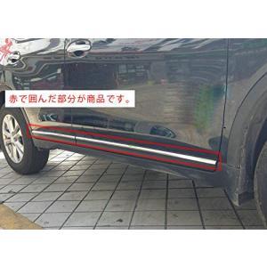 日産 エクストレイル T32 専用 鏡面 ステンレス 製 サイド ドア モール セット (スリムタイプ)|tamurashop