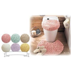 Cute Minor トイレマットおしゃれトイレマット2点セット吸水 速乾 抗菌 防臭 加工抗菌防臭シャギートイレマット (ピンク)|tamurashop