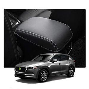 RUIYAマツダ Mazda CX5 2代目 専用アームレストボックスカバー アームレストカバー 手すりボックスアームレストカバー (黒/白|tamurashop