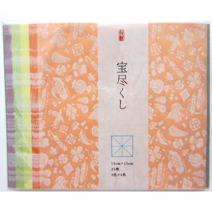 尚雅堂 大人のためのおりがみ 宝尽くし 15cm×15cm 5色 25枚|tanabata-kikuchi
