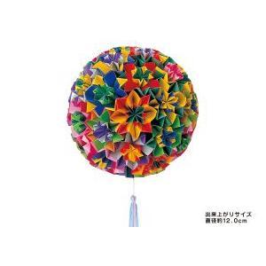 トーヨー 両面くす玉セット てまり おりがみ 101001 11.8cm×11.8cm 62枚|tanabata-kikuchi|02