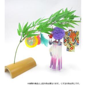 仙台七夕飾り ミニ七夕完成品 藤 竹台付|tanabata-kikuchi
