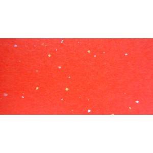 金銀砂子入和紙 あか色 雲竜なし 全判 1枚|tanabata-kikuchi