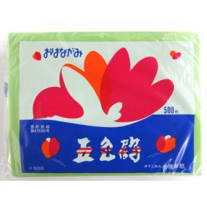 合鹿製紙 おはながみ 五色鶴 うぐいす No.3 500枚|tanabata-kikuchi