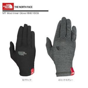 ★THE NORTH FACE〔ザ・ノースフェイス グローブ〕<2017>MT Wool Inner Glove NN61609〔マウンテンウールインナーグローブ〕〔z〕