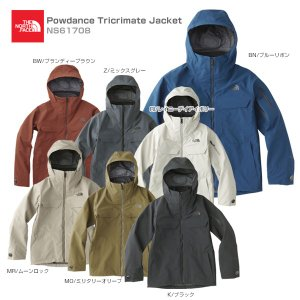 18-19 THE NORTH FACE〔ザ・ノースフェイス スキーウェア ジャケット〕<2019>Powdance Tricrimate Jacket NS61708【SP】