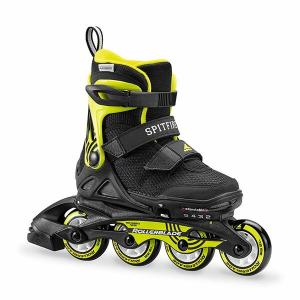 Rollerblade〔ローラーブレード ジュニアインラインスケート〕SPITFIRE SL〔BK/LIM〕【サイズ調整可能】