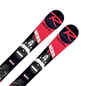 【倍々キャンペーンP5倍】ROSSIGNOL ロシニョール ジュニアスキー板 2020 HERO PRO + TEAM 4 BLK 金具付き・取付無料 19-20 NEWモデル