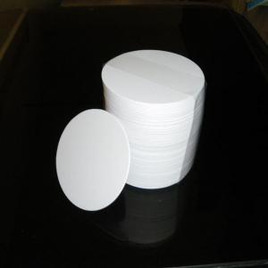 紙コースター白無地丸型100枚 1.0mm|tanaka-match