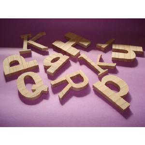 木製切文字アルファベット(英字) 欅5cmの木の文字|tanakahorutun