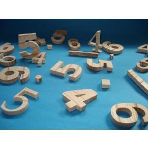 木製切文字数字 欅4cmの木の文字|tanakahorutun