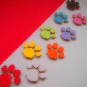 肉球(足跡) MDFボード製デザインプレート カラー タイプA|tanakahorutun