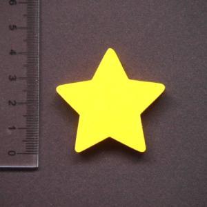 星形 MDFボード製デザインプレート4cm star01|tanakahorutun