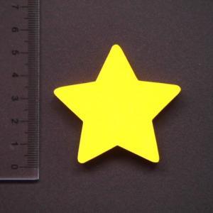 星形 MDFボード製デザインプレート5cm star01|tanakahorutun