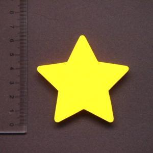 星形 MDFボード製デザインプレート6cm star01|tanakahorutun