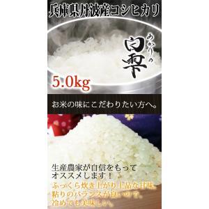 丹波産コシヒカリ 除草剤、農薬、化学肥料一切不使用 あかりの白雫 5.0kg 精米※未選別|tanba-akari-farm