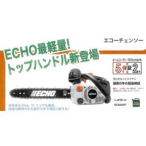 共立 エコー やまびこ チェーンソーECS300T 35cmバー 91PX52E 軽量タイプ|tanboya-store
