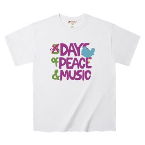 メンズ半袖Tシャツ、カットソー Tシャツ ウッドストックフェス ロゴ リメイク Tee