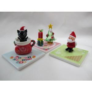 ミニチュアガラス細工  にゃんこのクリスマス 黒猫|tandtshop-ink