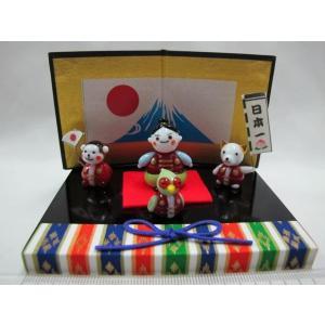 ミニチュアガラス細工  端午の節句 日本一の桃太郎|tandtshop-ink