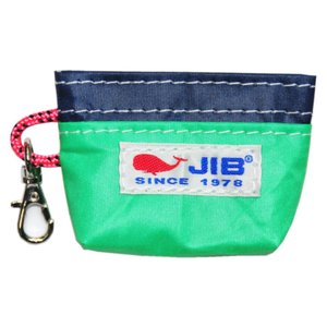 JIB コインケース CC8 エメラルドグリーン×ネイビー|tanida