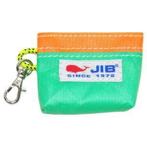 JIB コインケース CC8 エメラルドグリーン×オレンジ|tanida