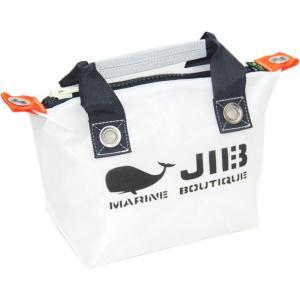 FTJ48 JIB ファスナートートジュニア ホワイト×チャコールグレーハンドル×チャコールグレーファスナー|tanida