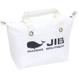 JIB ファスナートートM FTM78 ホワイト×アイボリーハンドル オーバージップタイプ|tanida