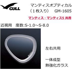 GULL 度付レンズ/マンティス用 *近視用・左右セット/レンズのみ(マスクは別売)/GULL(ガル)/GM-1605|tanida