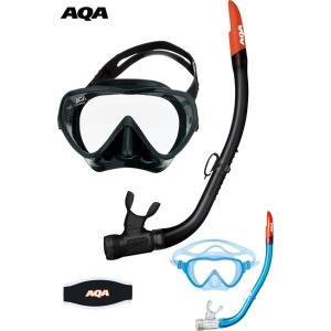 KZ-9053N AQA アビッソソフト&サミードライシリコン 男性用 スノーケリング2点セット|tanida