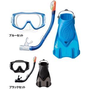 KZ-9209 AQA 男性用 スノーケリング3点セット L シリコン素材 旅行用|tanida