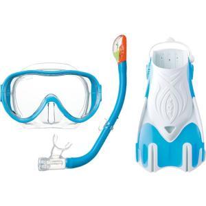 KZ-9210 AQA 女性用 スノーケリング3点セット M  シリコン素材 旅行用|tanida
