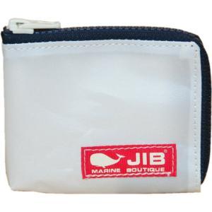 JIB マイクロクラッチ MC12 ホワイト×ダークネイビー/レッドタグ|tanida