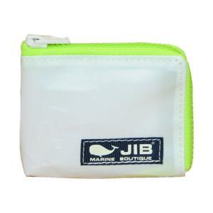 JIB マイクロクラッチ MC12 ホワイト×蛍光グリーン/ダークネイビータグ|tanida