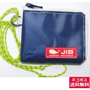JIB マイクロクラッチパス MCP18 ネイビー×ホワイト/レッドタグ 12×9.5×1cm|tanida