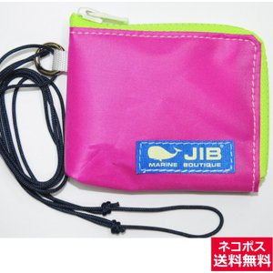JIB マイクロクラッチパス MCP18 ピンク×蛍光グリーン/ブルータグ 12×9.5×1cm|tanida