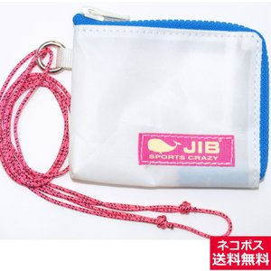 JIB マイクロクラッチパス MCP18 ホワイト×ブルー/ピンクタグ 12×9.5×1cm|tanida