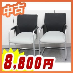 ミーティングチェア 2脚セット 会議椅子 会議イス キャンチレバー脚 中古 コクヨ製:AGATA/Vシリーズ CK-96F6 tanimachi008