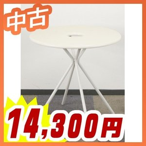 円テーブル ドーナツ型 ラウンジテーブル リフレッシュテーブル 中古テーブル  中古 イトーキ製:フロウラウンジ FlowLoungeシリーズ LAZT-7C7R-W9|tanimachi008